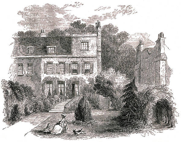 Wall Art - Drawing - Samuel Taylor Coleridge  House by Mary Evans Picture Library