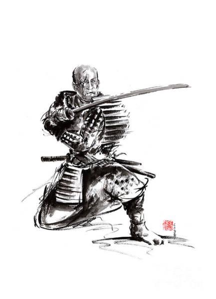 Wall Art - Painting - Samurai Art Print  Samurai Sword  Japan Poster  Japan Photography Japan Style Japan Wall Decor  Samu by Mariusz Szmerdt