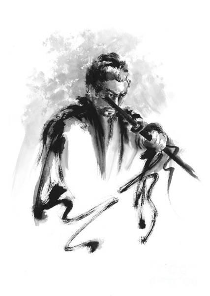 Martial Arts Painting - Samurai Bushido Code by Mariusz Szmerdt