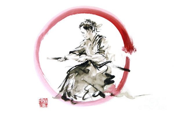 Wall Art - Painting - Samurai Enso Bushido Way. by Mariusz Szmerdt