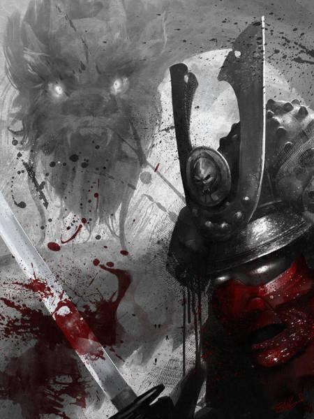Sword Wall Art - Digital Art - Samurai by Steve Goad