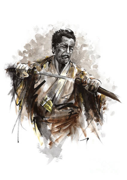 Wall Art - Painting - Samurai Warrior. by Mariusz Szmerdt