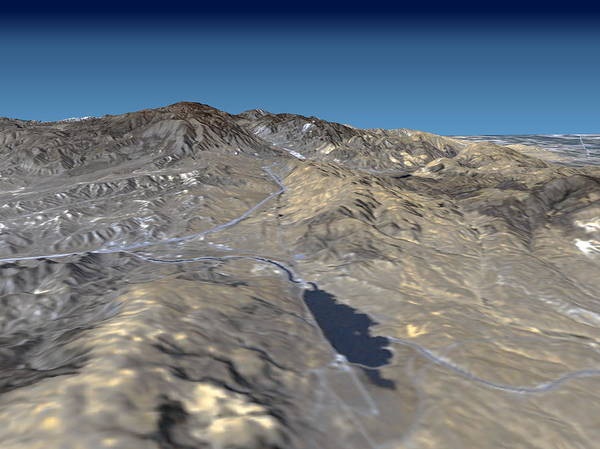 Endeavour Photograph - San Andreas Fault by Nasa/science Photo Library