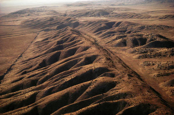 Bird Strike Wall Art - Photograph - San Andreas Fault by Peter Menzel/science Photo Library