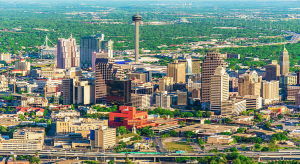 Southern Usa Photograph - San Antonio Cityscape Skyline Aerial by Dszc