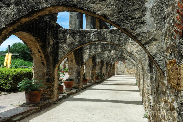 Spanish Missions Wall Art - Photograph - San Antonio Mission Arches by Paul Quinn