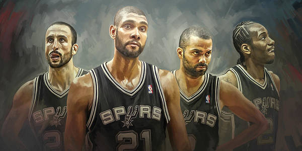 Wall Art - Painting - San Antonio Spurs Artwork by Sheraz A