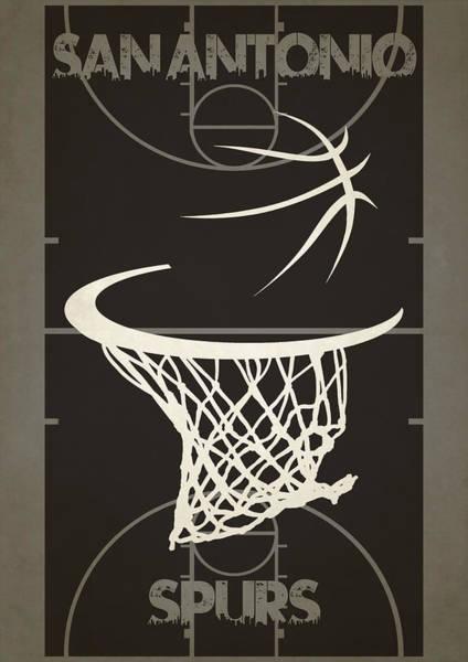 San Antonio Photograph - San Antonio Spurs Court by Joe Hamilton