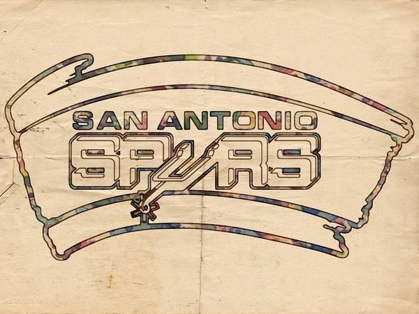 Painting - San Antonio Spurs Logo Vintage by Florian Rodarte