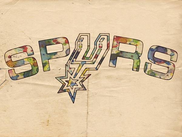Wall Art - Painting - San Antonio Spurs Retro Poster by Florian Rodarte