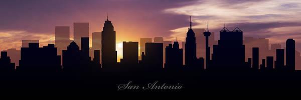 San Antonio Photograph - San Antonio Sunset by Aged Pixel