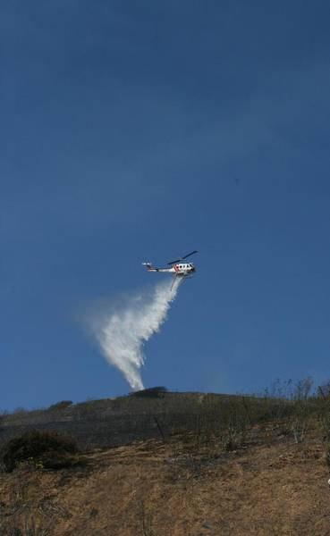 Photograph - San Bruno Mountain Fire by Cynthia Marcopulos