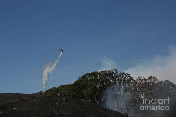 Photograph - San Bruno Mountain Firefighting by Cynthia Marcopulos