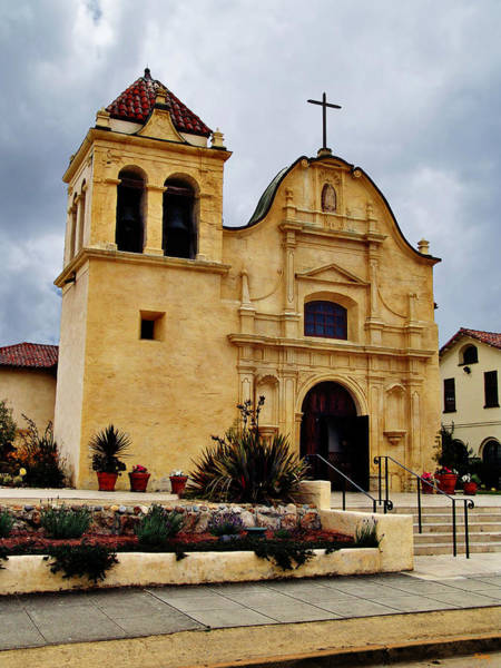 Mission Bay Photograph - San Carlos Cathedral - Monterey California by Glenn McCarthy Art and Photography