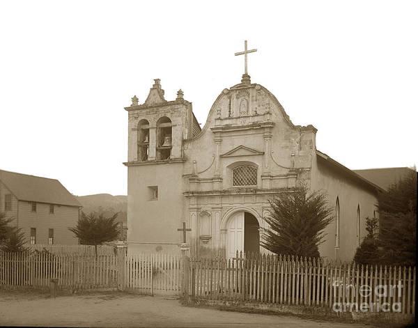 Photograph - San Carlos Church Monterey California  Circa 1890 by California Views Archives Mr Pat Hathaway Archives