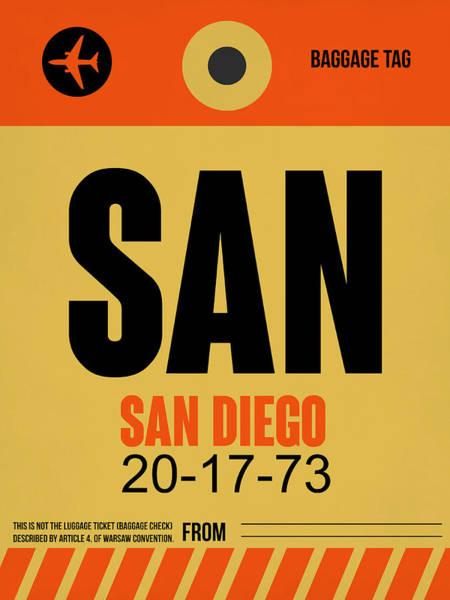 California Digital Art - San Diego Airport Poster 1 by Naxart Studio