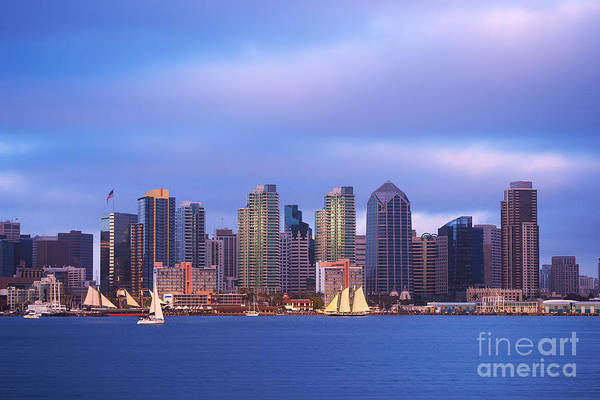 Photograph - San Diego At Sunset by Rima Biswas