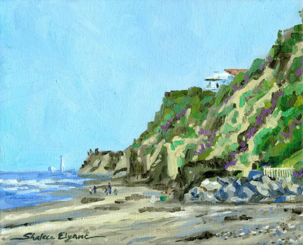 Painting - San Diego Beach House Hill by Shalece Elynne