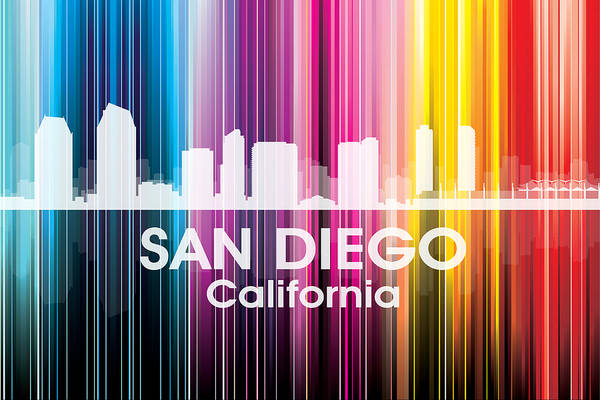 Wall Art - Mixed Media - San Diego Ca 2 by Angelina Tamez