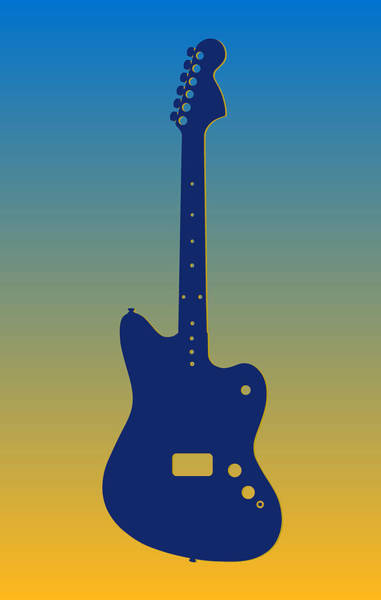 Bass Player Wall Art - Photograph - San Diego Chargers Guitar by Joe Hamilton