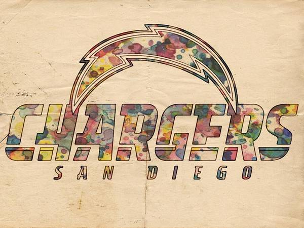 Painting - San Diego Chargers Poster Vintage by Florian Rodarte