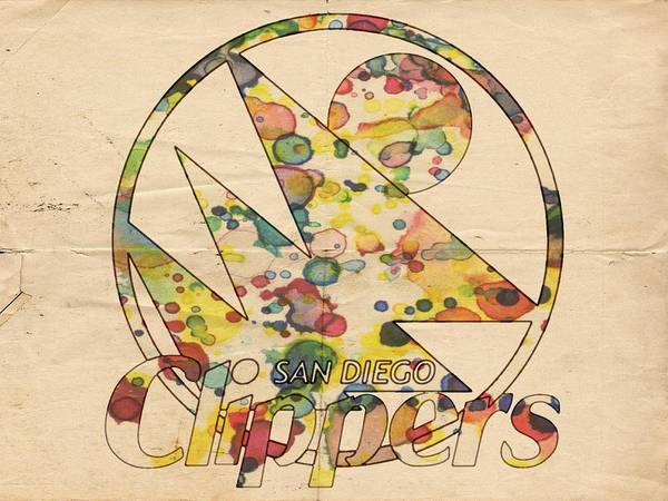 Painting - San Diego Clippers Retro Poster by Florian Rodarte