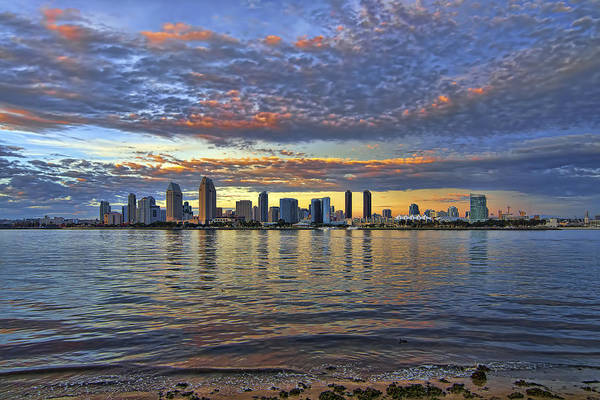 Photograph - San Diego Colorful Clouds by Mark Whitt
