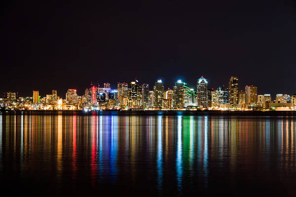 Photograph - San Diego Colorful Lights by Mark Whitt