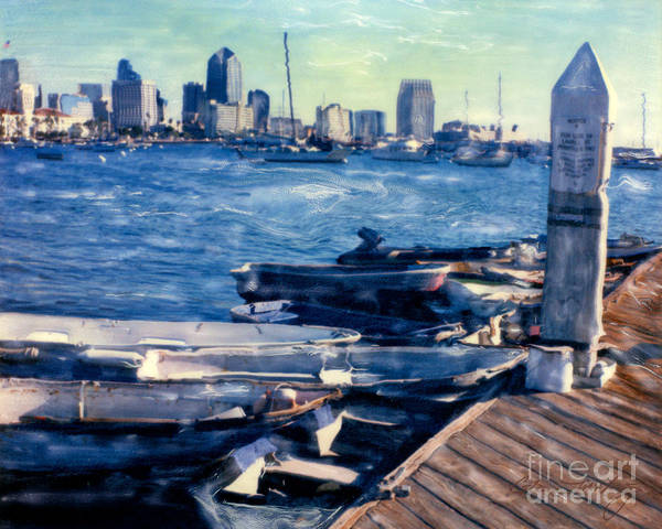 San Diego Docks Art Print