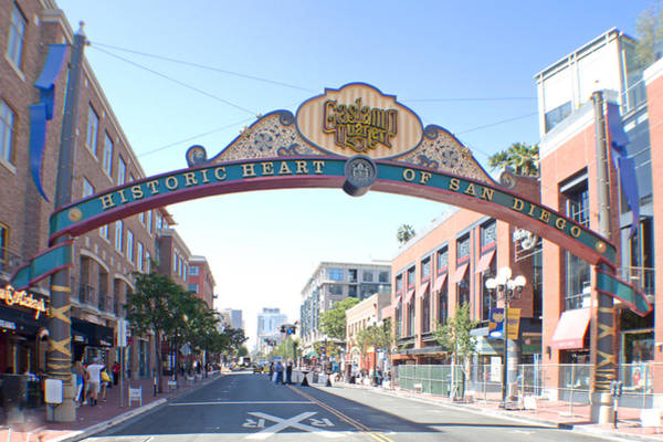 Photograph - San Diego Gas Lamp In Color by Jeremy McKay