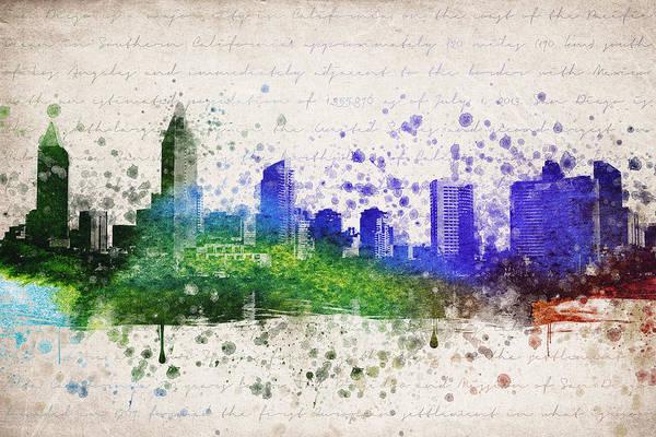 San Diego Digital Art - San Diego In Color by Aged Pixel