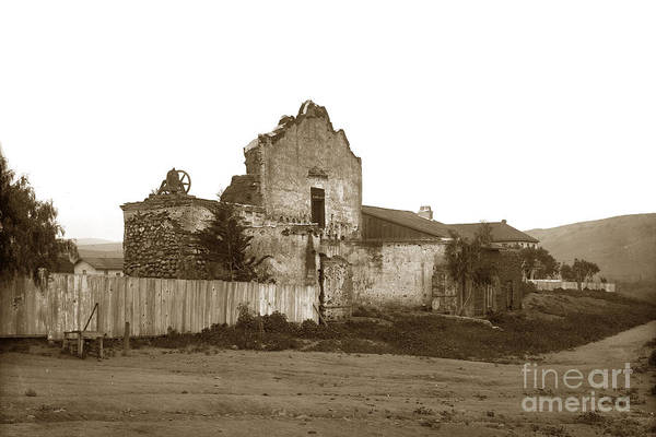 Photograph - San Diego Mission California Circa 1900 by California Views Archives Mr Pat Hathaway Archives