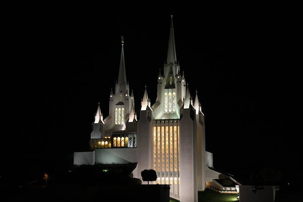 Photograph - San Diego Mormon Temple At Night by Nathan Rupert