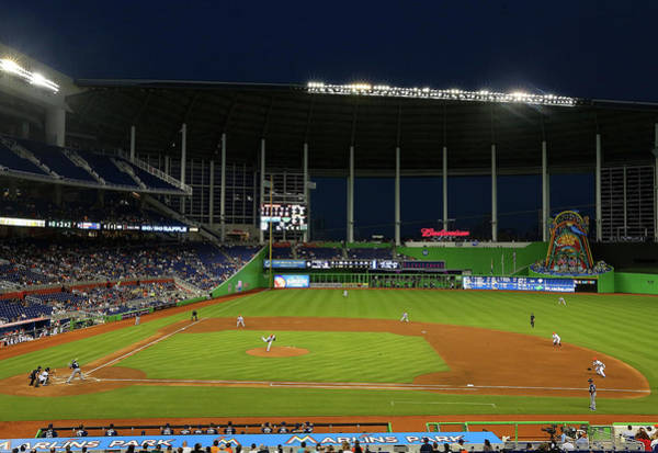 Miami Marlins Photograph - San Diego Padres V Miami Marlins by Mike Ehrmann