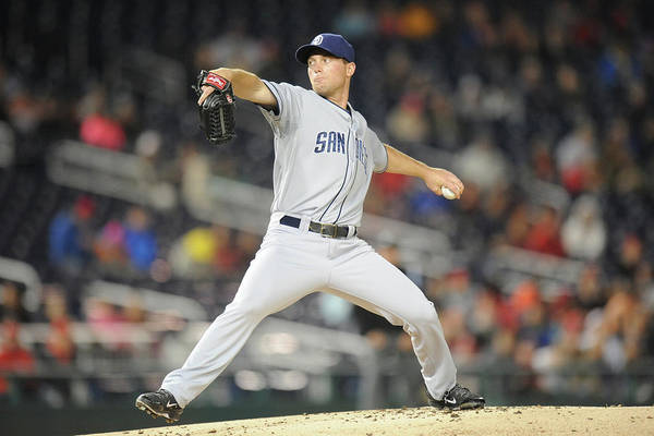Baseball Pitcher Photograph - San Diego Padres V. Washington Nationals by Mitchell Layton