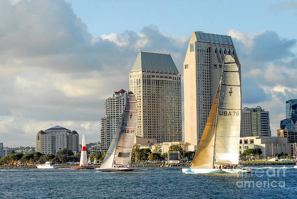 Coronado Photograph - San Diego Sailing by Paul Quinn