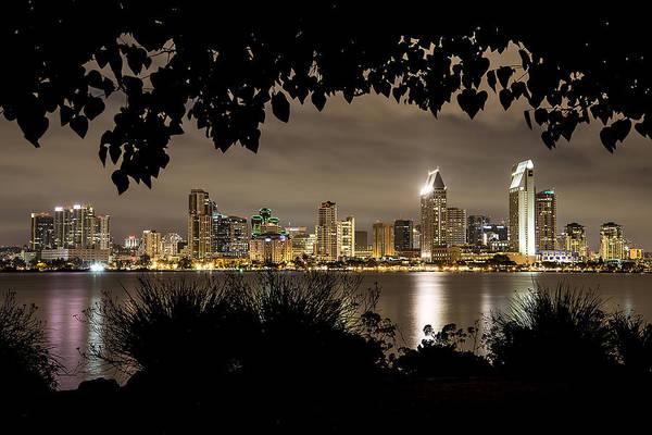 San Diego Skyline Framed 2 Art Print