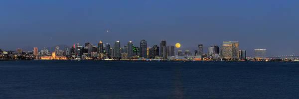 Photograph - San Diego Super Moon by Mark Whitt