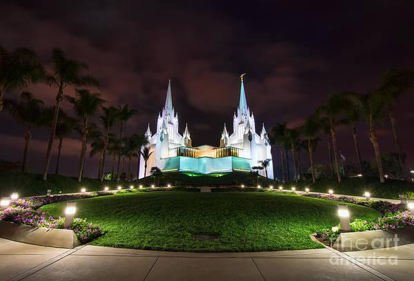 Photograph - San Diego Temple by Eddie Yerkish