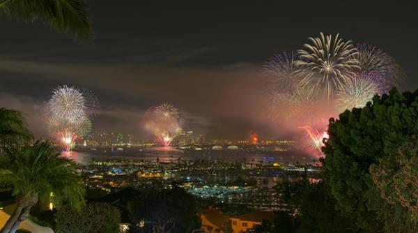 Photograph - San Diego's 2014 Big Bay Boom July 4th Fireworks by Mark Whitt