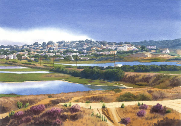 Pacific Painting - San Elijo And Manchester Ave by Mary Helmreich