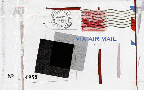 Correspondence Photograph - San Francisco 1952 Air Mail by Carol Leigh