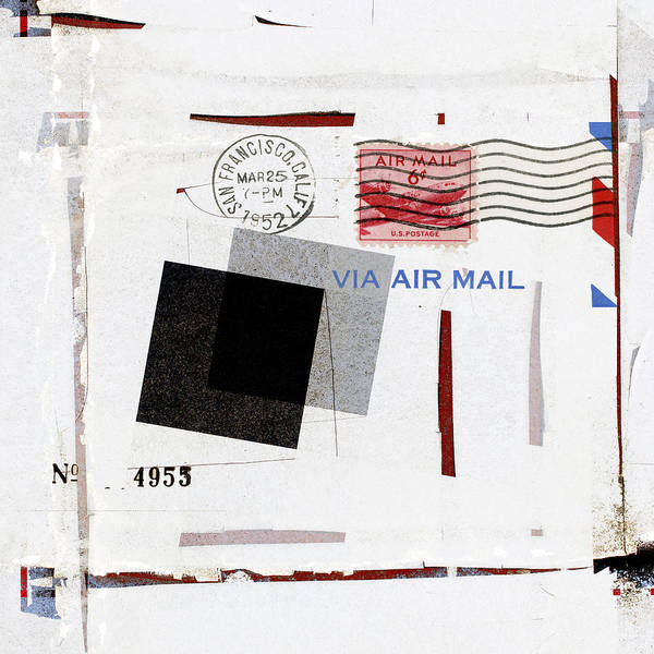 Correspondence Photograph - San Francisco 1952 Air Mail Square by Carol Leigh