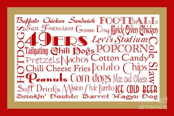 Digital Art - San Francisco 49ers Game Day Food 2 by Andee Design
