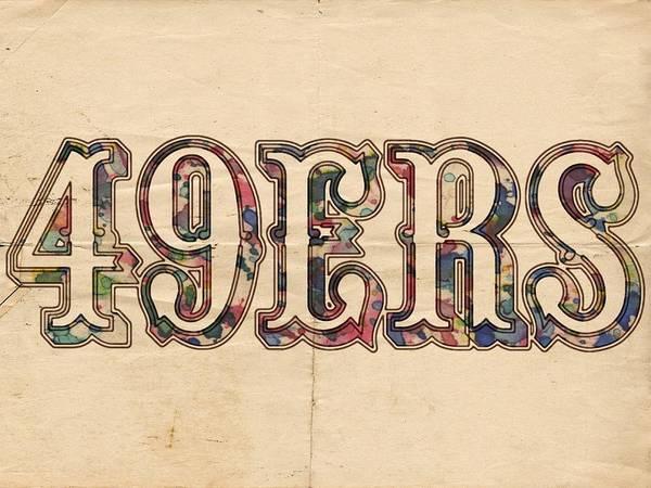Painting - San Francisco 49ers Vintage Logo by Florian Rodarte