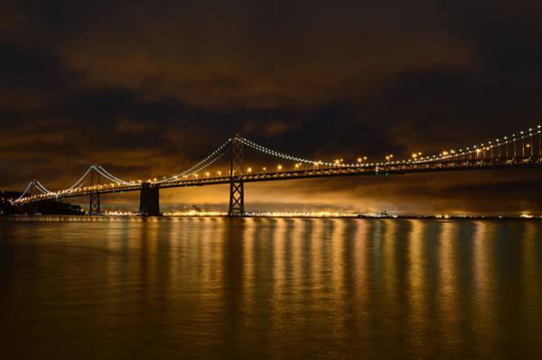 Photograph - San Francisco - Bay Bridge At Night by Carlos Alkmin