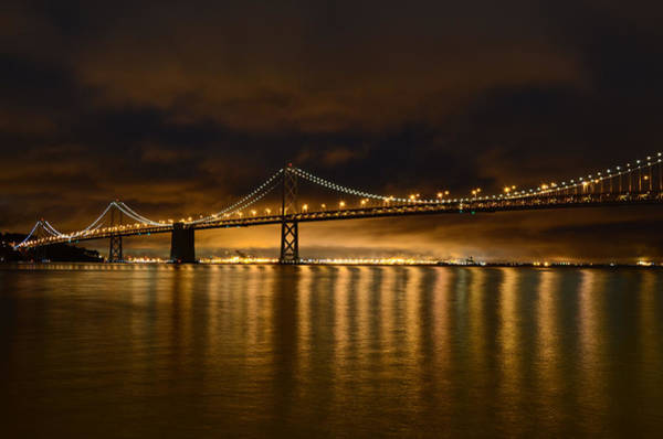 San Francisco - Bay Bridge At Night Art Print