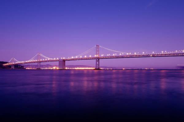 Wall Art - Photograph - San Francisco Bay Bridge At Sunset by Mandy Wiltse