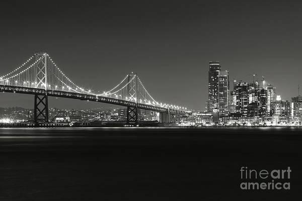 Wall Art - Photograph - San Francisco Bay Bridge Bw by Jennifer Ramirez