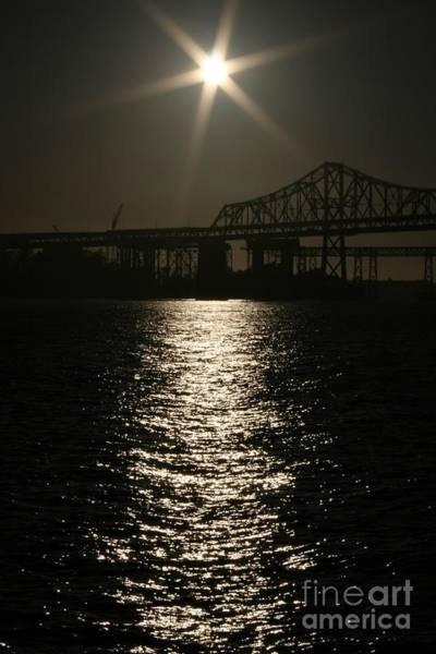 Photograph - San Francisco Bay Bridge Construction Under The Moonlight by Cynthia Marcopulos